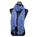 Großhandel Fashion & Accessoires: Crinkle Schal Offen Meerblau