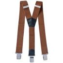 Großhandel Gürtel: Long Hosenträger Y Form 4cm Breit Nussbraun
