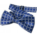 wholesale Ties: Fly Kids Boys Blue Checkered