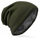 ingrosso Cappelli: Beanie per  l'inverno  tinta unita verde ...
