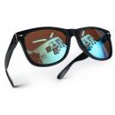 Großhandel Sonnenbrillen: Nerd Sonnenbrille Schwarz Blau