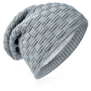 wholesale Fashion & Apparel: Knit beanie braided pattern gray