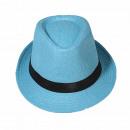 grossiste Cadeaux et papeterie: Chapeau Panama  Fedora chapeau de paille Blue Sky 5