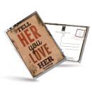 grossiste Cartes de vœux: Carte postale de  thé et aussi - Tell Her You Love