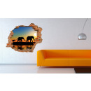 wholesale Home & Living: Wall mural 3D - Walking elephants