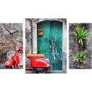 groothandel Home & Living: WANDKLOK CANVAS 60 MY ITALIË