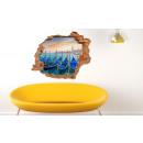 grossiste Stickers mureaux:Murale 3D - Venise