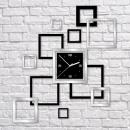 grossiste Horloges & Reveils: HORLOGE MURALE  NOIR MIROIR HAE CADRES 55x62