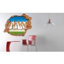 groothandel Wandtattoos: Muurschildering 3D - Pool