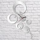 grossiste Horloges & Reveils: HORLOGE MURALE  MIROIR HAE paon CLOCK 35x52