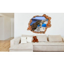 grossiste Stickers mureaux:Murale 3D - Santorin