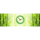 Uhren & Wecker: WANDBORDUHR CANVAS 35 BAMBOO STYLE
