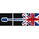 groothandel Klokken & wekkers: MUURKLOK CANVAS 35 BRITISH GUITAR