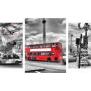 groothandel Klokken & wekkers: WANDKLOK CANVAS 60 LONDON BUS
