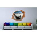 mayorista Casa y decoración: Imagen de pared 3D - Barco en la playa