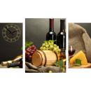 groothandel Klokken & wekkers: WANDKLOK CANVAS 60 Wine & Cheese