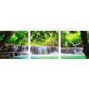 groothandel Klokken & wekkers: MUURKLOK CANVAS 35  watervallen in het BOS
