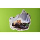 Großhandel Bilder & Rahmen: 3D Wand - Tiger am Wasserfall