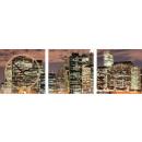 groothandel Klokken & wekkers: MUURKLOK CANVAS 35 BIG CITY BY NIGHT