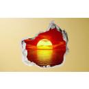 Großhandel Bilder & Rahmen:3D Wand - Sun