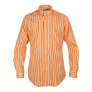 RALPH LAUREN MEN'S SHIRT ORANGE STRIPED