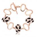 wholesale Bracelets: Bracelet - 18ct pink gold plated bracelet.