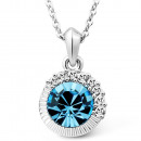Pendant created with Swarovski® Crystal and Zircon