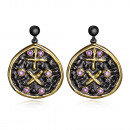 wholesale Jewelry & Watches: Modern design earrings rhodium plated black