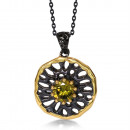 wholesale Beads & Charms: Modern design pendant bathed in black rhodium