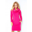 wholesale Fashion & Apparel: 131-6 DRESS WITH  GOLF - THICK PUNTO - RASPBERRY