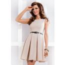 wholesale Fashion & Mode:DRESS pleat - beige 6-1