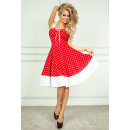 Großhandel Fashion & Accessoires: Rockabilly pin up Kleid - red dots