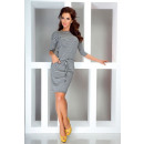 Sport jurk - grijze strepen 13-11