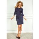 grossiste Vetement et accessoires: 38-5 robe avec  fermeture éclair - Jeans Marine