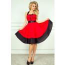 Rockabilly pin up  Kleid - rot + schwarz