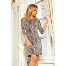 88-18 Kleid mit Ärmel und trapezförmigem Rock