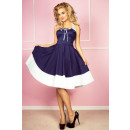 Rockabilly pin up  Kleid navy blau und weiß