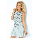 Großhandel Röcke: 117-1 Kleid  Faltenrock - GRAU, KWI