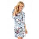 Großhandel Fashion & Accessoires: 88-12 Kleid mit  Ärmeln 3/4 - rote Blüten