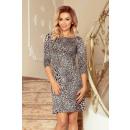 Großhandel Röcke: 88-19 Kleid mit Ärmel und trapezförmigem Rock