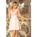 Großhandel Kleider: 242-1 ANNA Kleid mit Ausschnitt und Spitze