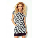 wholesale Fashion & Mode: DRESS with pockets  of gray and black diamonds