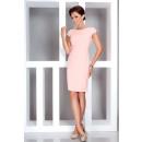 wholesale Fashion & Mode: Elegant dress with short sleeves Peach