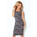 hurtownia Fashion & Moda: Dopasowana  sukienka - żakard TYGRYS