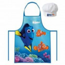 Set kitchen apron hat Dory