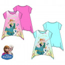 T-Shirt child  Frozen sleeved blue rose
