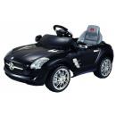 Kinderen in de auto elektrische auto Mercedes SLS