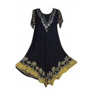 wholesale Fashion & Apparel: Short-sleeved long  summer dress - yellow