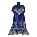 Kurzarm kurzes  Sommerkleid - blau lila