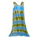 Großes Sommerkleid - blau, Senf